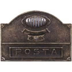 cassette per lettere buca per lettere con citofono ottone bronzato alubox mod