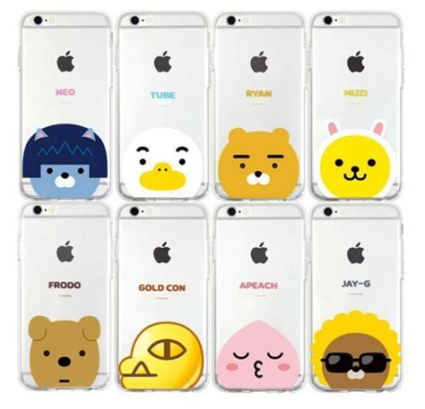 kakao friends pop soft jelly phone cover protector for iphone 6 6s plus friends galaxies