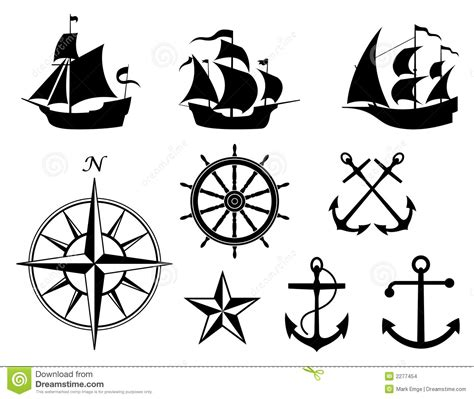 nautical elements vector stock vector illustration of