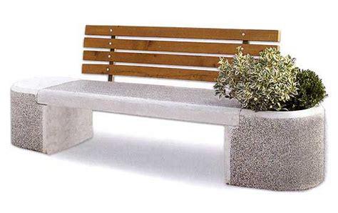 panchine in cemento panchina in cemento con schienale in legno per parchi e