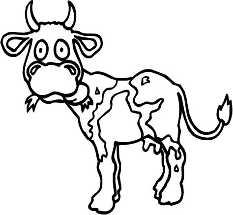 cow face coloring sheet coloring pages