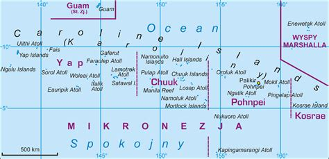 map of micronesia the federated states of micronesia map