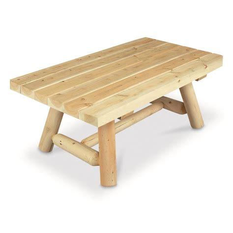 Cedar Coffee Table Cedar Log Coffee Table 52253 Living Room At Sportsman S Guide