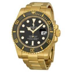 rolex submariner black index oyster bracelet 18kt