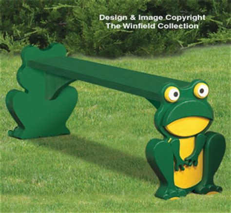 frog on bench outdoor furniture plans frog bench wood plans