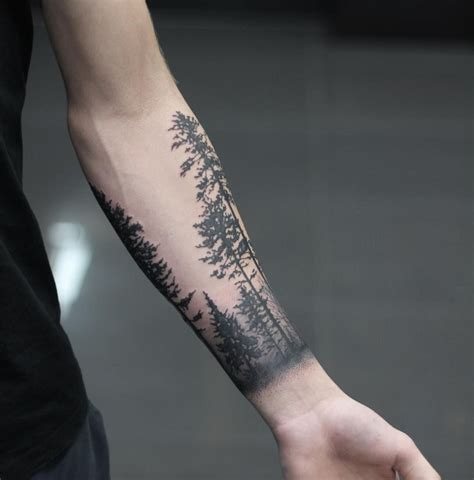 forest scene tattoo i am launching a newseltter called the rabbit sign