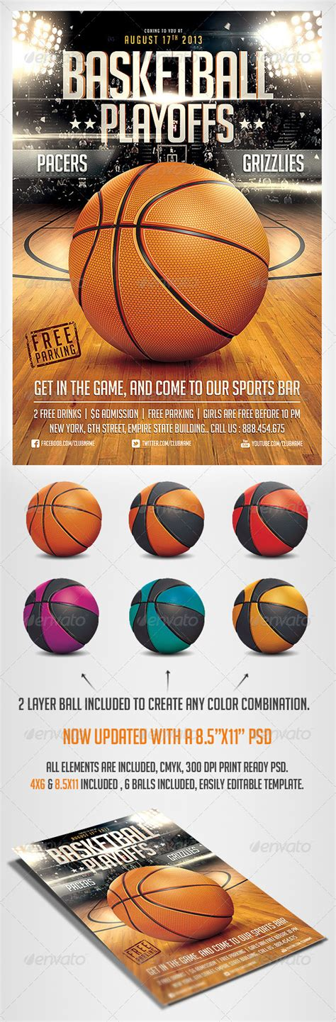 basketball game flyer template by saltshaker911 graphicriver