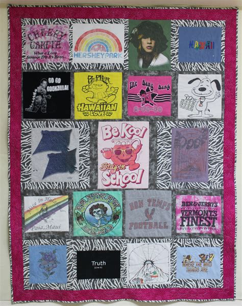 T Shirt Quilt Blocks by T Shirt Quilt With 19 Blocks