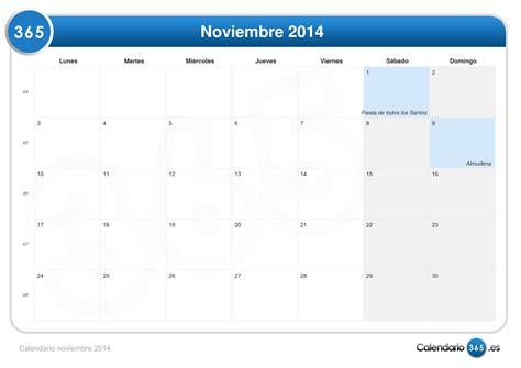 Calendario Noviembre 2014 Calendario Noviembre 2014