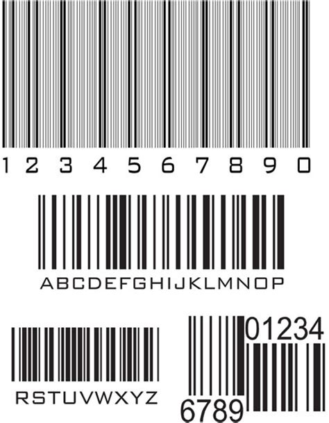 eps format barcode generator various types of barcodes vector set free vector in