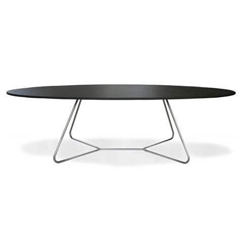 Table Basse Ovale Noire