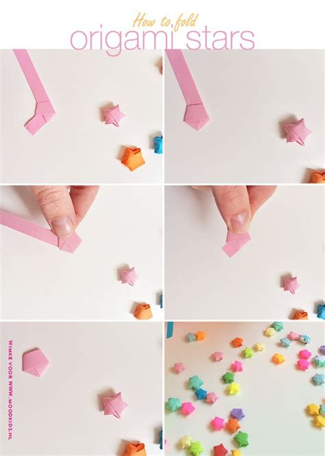 Lucky Folding Paper - origami sterren vouwen zo vouw je stap voor stap lucky