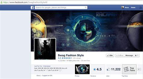 facebook fan page followers anonghost hacks 12k followers of the swag fashion style