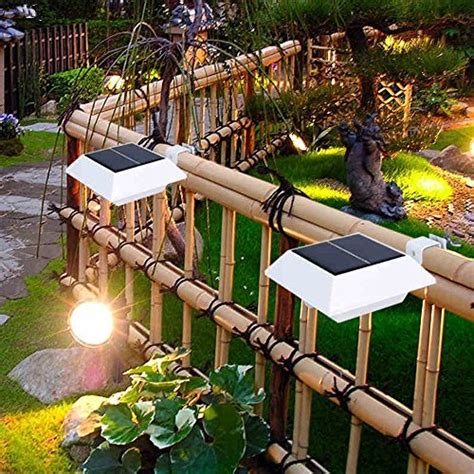 tiki hut dog house falove solar powered 4 led light for outdoor garden roof gutter fascia board fence