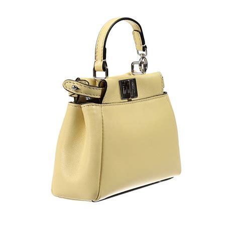 Gallery With Rasta Bag And Fendi Purse by Lyst Fendi Handbag Leather With Shoulder Micro Peekaboo