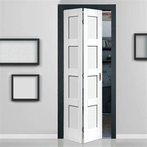 Interior Folding Doors White Shaker White Primed 4 Panel Bifold Door Posts Inspiration And Interior Doors