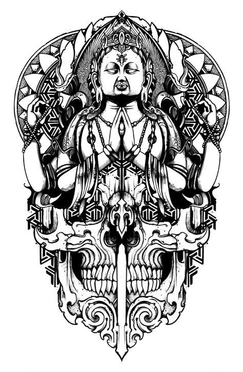 tattoo mandala skull budhha mandala skull design my art pinterest skull