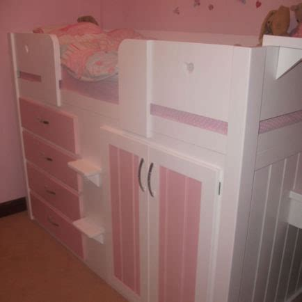 drawer childrens cabin bed white princess pink aspenn furniture