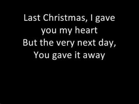 printable lyrics last christmas wham wham last christmas with lyrics d youtube