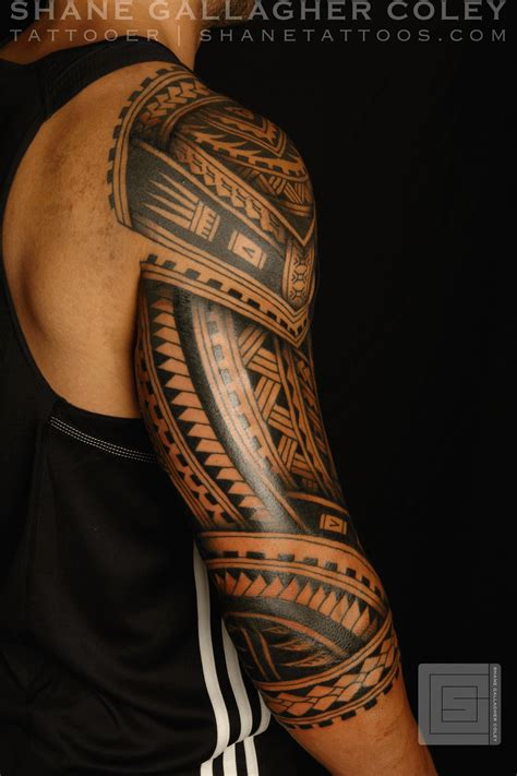 polynesian arm tattoo designs shane tattoos polynesian sleeve tatau
