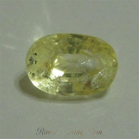 Cincin Yellow Sapphire Ah 52 jual batu mulia yellow sapphire bentuk oval 2 68 carat