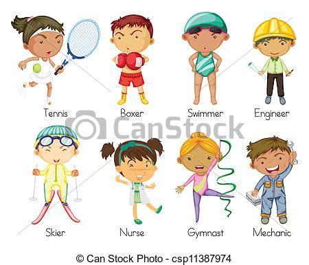 clipart bimbi illustrazioni vettoriali di bambini sport illustrazione