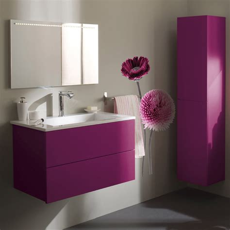 armoire salle de bain violet