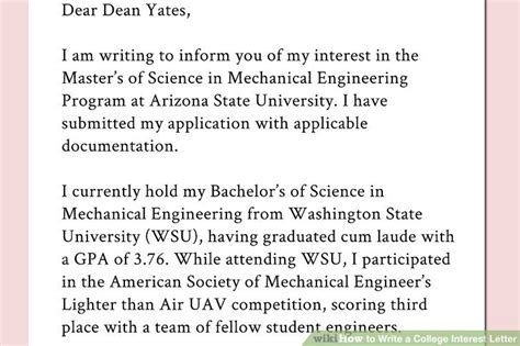 request letter to college dean how to write a college interest letter with pictures