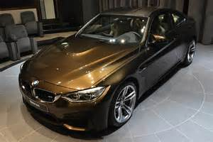 bmw m4 colors bmw m4 coupe in pyrite brown individual color