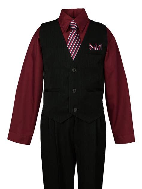 spring notion boys pinstripe dress shirt vest suit set
