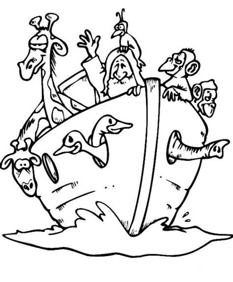 bible story coloring pages in spanish dibujo del arca de noe flotando con todos los animales