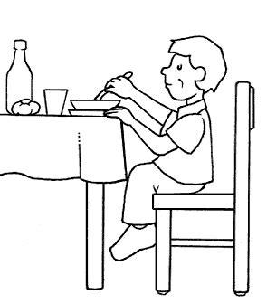 cibi fanno andare in bagno disegni bambini seduti a tavola cerca con idee