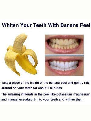 tips and tricks at home 25 best ideas about banana teeth whitening on