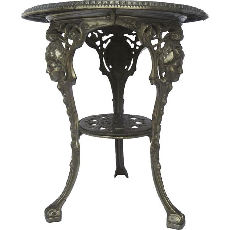 vintage cast iron table vintage cast iron pub garden table from blacktulip on ruby