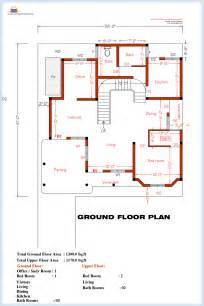 Floor Drawing 3 Bedroom Home Plan And Elevation Kerala House Design
