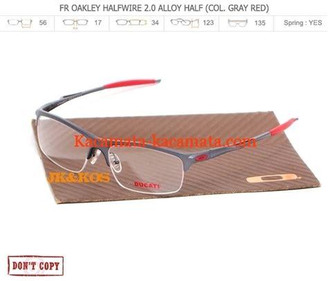 model kacamata pria terbaru oakley halfwire 2 0 half col