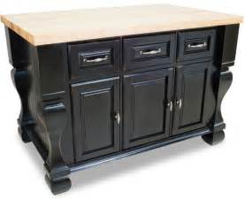 black kitchen island and distressed black kitchen island