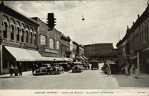Allegan Post Office by Locust Looking South Allegan Mi