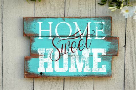 Home Signs Decor Home Sweet Home Wood Pallet Sign Reclaimed Wood By Jetmakdesigns