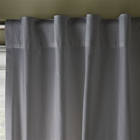 cotton canvas curtains cotton canvas pole pocket curtain steel west elm