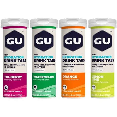 xylitol hydration gu hydration drink tabs outer limits adventure fitness