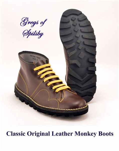 free monkey boots genuine original mens boys ladies red leather mod