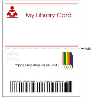 i got my library card template indoor activities for let s play library