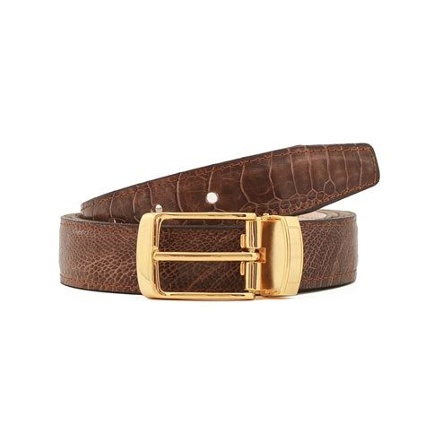 rugged belt 1 25 quot belt rugged brown shin leather 36 quot l volstruis touch of modern