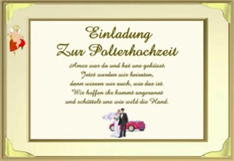 Einladung Zur Polterhochzeit by Spr 252 Che Polterhochzeit