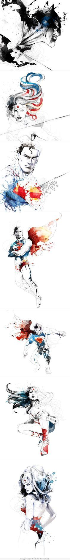 Tattoos Am Fuß 5271 by Marvel Watercolor Captain America Thor
