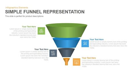 powerpoint funnel template simple funnel representation powerpoint keynote template