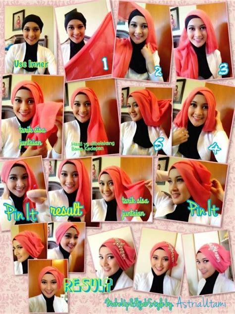 tutorial hijab pesta com tutorial hijab pesta simple just trendy girls
