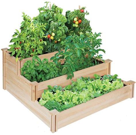 greenes raised beds awardpedia greenes 4 ft x 4 ft x 21 in tiered cedar raised garden bed