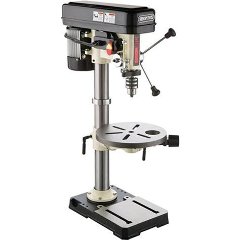 bench shop press drill presses shop fox 3 4 hp 13 inch bench top drill